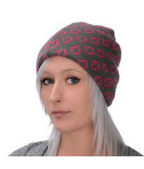 Oxtech Wallpaper Beanie Pink/Grey