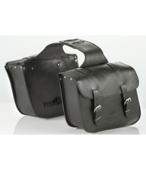 CU500 Leather custom saddlebags