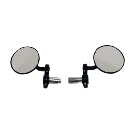 Oxford Bar End Mirrors - Black