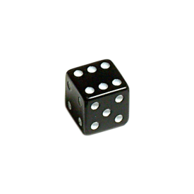 Lucky Dice Valve caps Black Pair