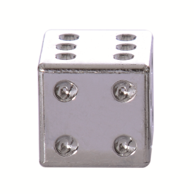 Lucky Dice Valve caps Silver Pair
