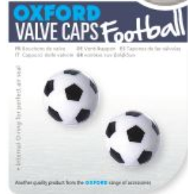 Valve Caps Football Black