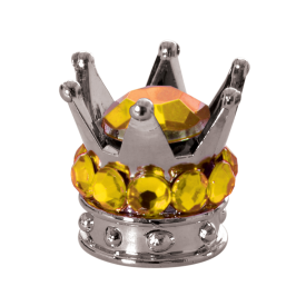 Valve Caps Junior Crown Gold