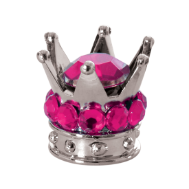 Valve Caps Junior Crown Pink