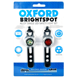 BrightSpot LED Lights, Silver Pair