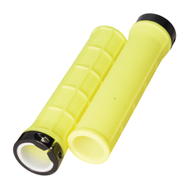 Lock On Slim Grips Fluro Yellow