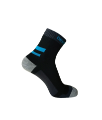 Running Sock Black/Aqua Blue